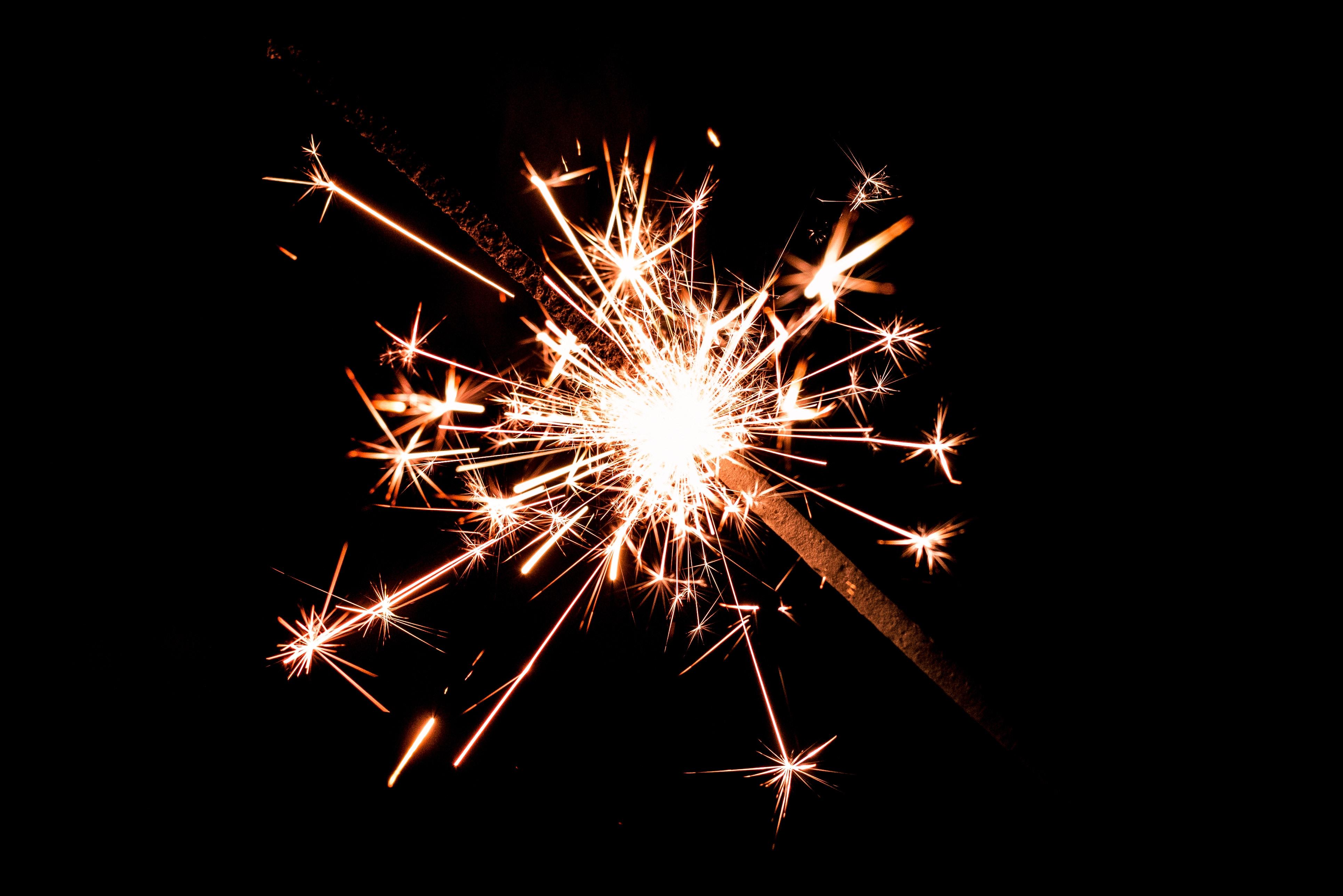 Sparkler Igniting