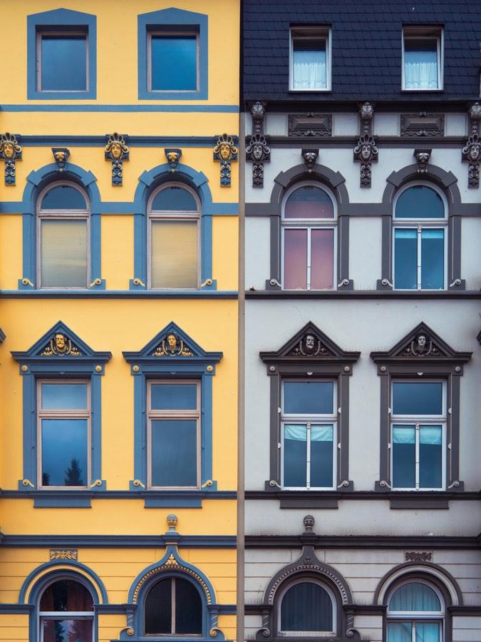 Colourful Apartment Blocks